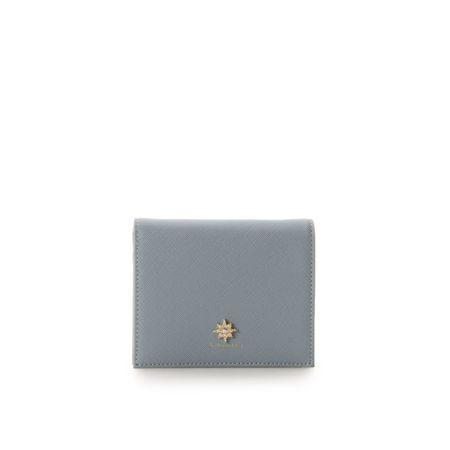 サマンサタバサ 折財布 ビジューシリーズ ミニ財布 ライトブルー &chouette