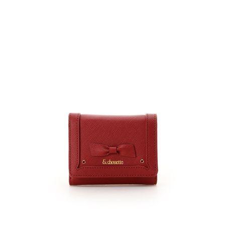 サマンサタバサ 折財布 バースストーンカラーパース 1月 レッド &chouette