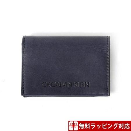 カルバンクライン 財布 メンズ 折財布 ハンク 小銭入れ 札入れ口付き ネイビー CalvinKlein