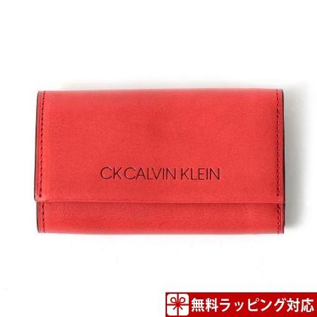 カルバンクライン キーケース メンズ ハンク 札入れ口付き レッド CalvinKlein