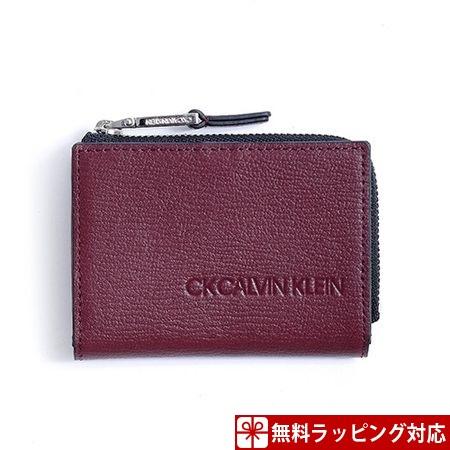 カルバンクライン コインケース メンズ ロック 小銭 カードケース兼用 マルチケース ボルドー CalvinKlein