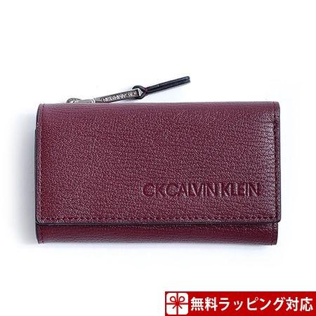 カルバンクライン キーケース メンズ ロック 小銭 カードケース兼用 ボルドー CalvinKlein
