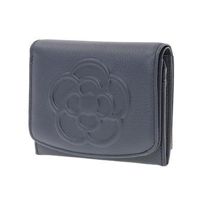 クレイサス クレイサス  ソフトスムースレザーBOX財布 ネイビー ブランド