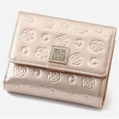 クレイサス ベティー 口金折財布 ベージュロゼ