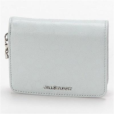 4f27cef857d7 ジルスチュアート折財布ラヴリーフアイスブルー 財布・ケース 超美品の