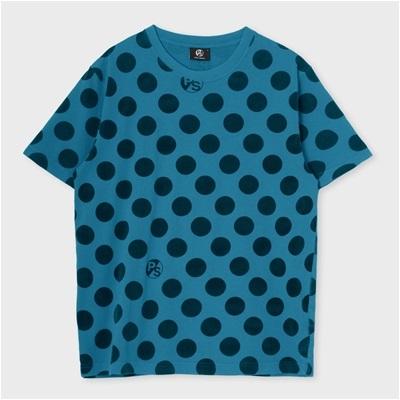 ポールスミス ポルカドットプリントTシャツ ターコイズ M