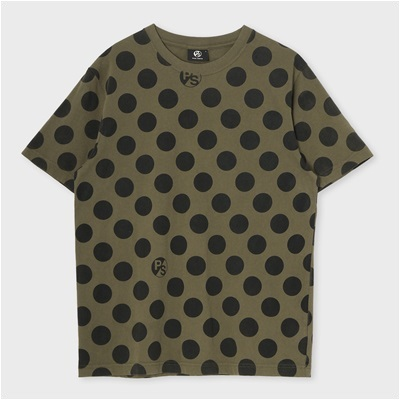 ポールスミス ポルカドットプリントTシャツ カーキ S