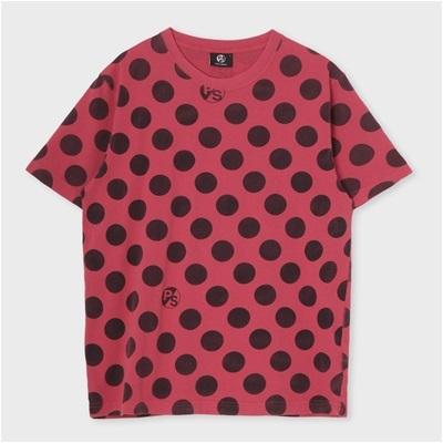 ポールスミス ポルカドットプリントTシャツ ピンク XL