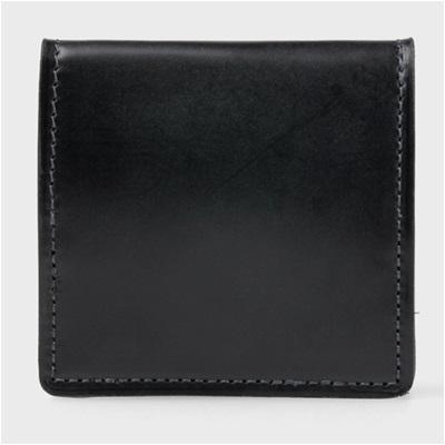 ポールスミス 蝋引きコードバン コインケース ブラック ※アウトレット品 当店は最高な サービスを提供します