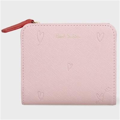 ポールスミス スミシーハート 2つ折り財布 ピンク
