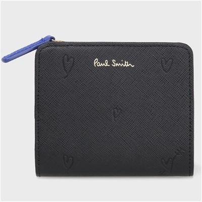 ポールスミス スミシーハート 2つ折り財布 ブラック