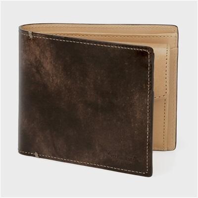 ポールスミス・コレクション PCステインカーフ 二つ折り財布 ダークブラウン