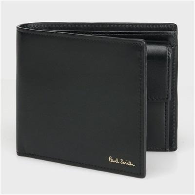 ポールスミス カラーバンド 二つ折り財布 ブラック