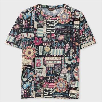 ポールスミス・コレクション フェスティバルグラフィック Tシャツ ブラック M