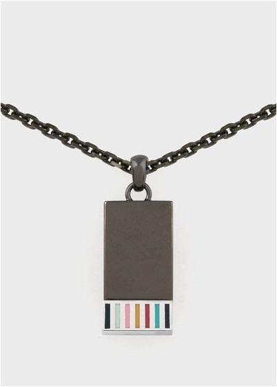 ポールスミス アーティストストライプ スピンネックレス ブラック