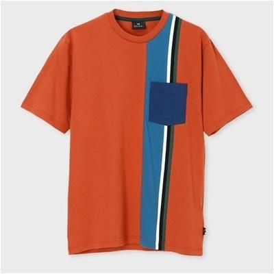 ポールスミス ストライプスウィッチ Tシャツ M レッド