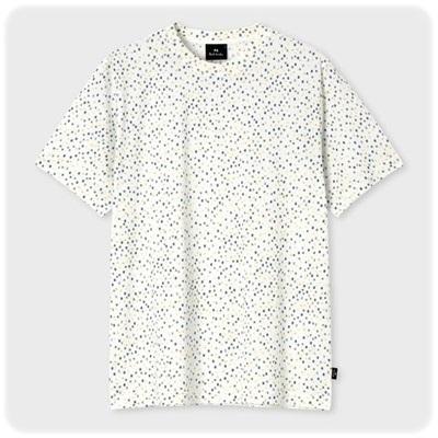 ポールスミス Paul Smith Tシャツ カラーブロック プリント ホワイト S