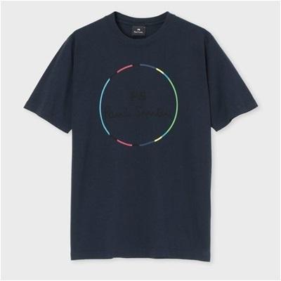 ポールスミス ロゴサークル プリントTシャツ M ネイビー