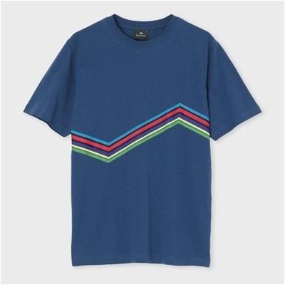 ポールスミス サイクルストライプ Tシャツ XL ブルー