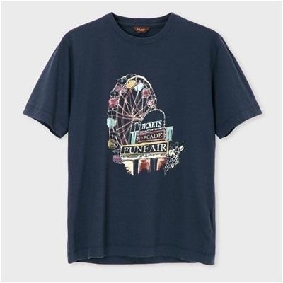 ポールスミス フェアグランドプリント Tシャツ ネイビー XL