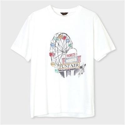 ポールスミス フェアグランドプリント Tシャツ ホワイト L
