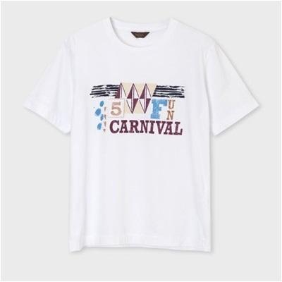 ポールスミス カーニバルプリント Tシャツ ホワイト M