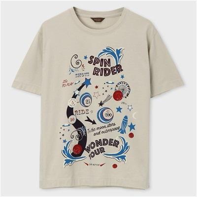 ポールスミス・コレクション スピンライダープリント Tシャツ ライトグレー M