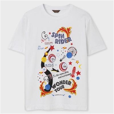 ポールスミス・コレクション スピンライダープリント Tシャツ ホワイト M