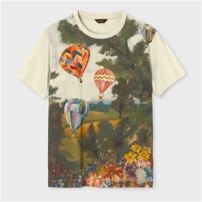 ポールスミス ホットエアバルーンズプリント Tシャツ ベージュ XL