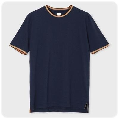 ポールスミス Paul Smith Tシャツ アーティストストライプ リブ ネイビー XL