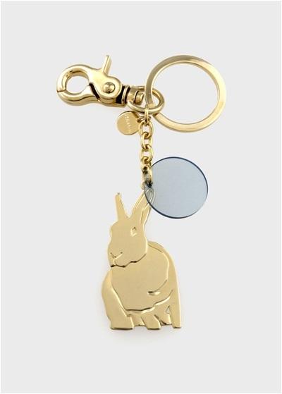 ポールスミス ウィメンズ Lucky Rabbit キーリング ゴールド