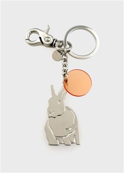 ポールスミス ウィメンズ Lucky Rabbit キーリング シルバー