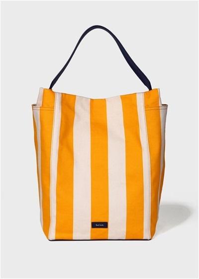 ポールスミス ショルダーバッグ プリントキャンバスホーボーバッグ オレンジ