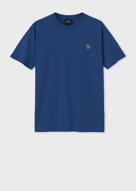 ポールスミス Tシャツ Sports Stripe Zebra ワンポイント ブルー M Paul Smith