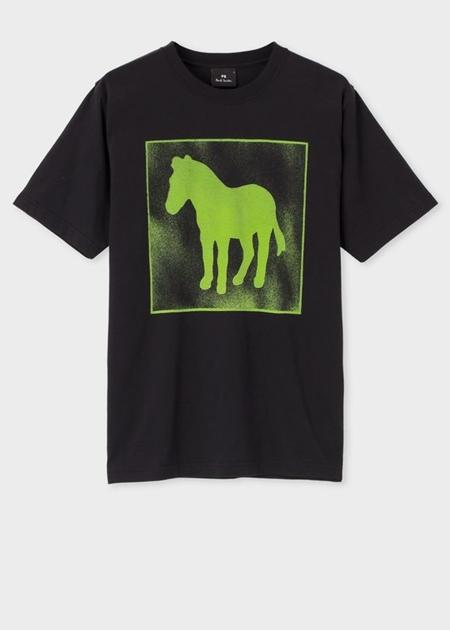 ポールスミス Tシャツ シルエットゼブラプリント  オーガニックコットン ブラック M Paul Smith