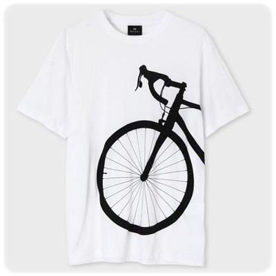 ポールスミス Tシャツ Bicycle Shadow プリント ホワイト M