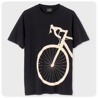 ポールスミス Tシャツ Bicycle Shadow プリント ブラック M