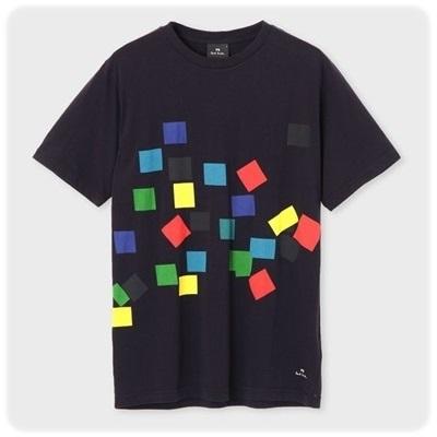 ポールスミス Tシャツ Confetti プリント ネイビー XL