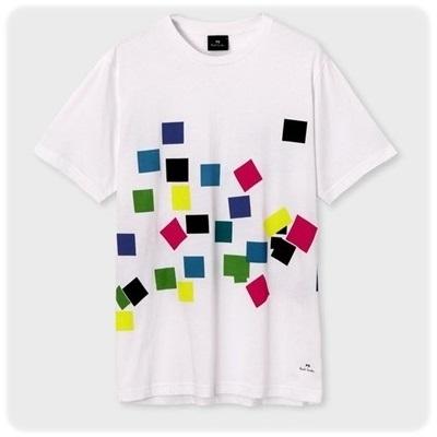 ポールスミス Tシャツ Confetti プリント ホワイト M