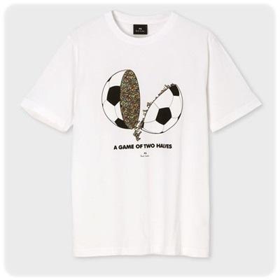 ポールスミス Tシャツ Ball and Zebra プリントTシャツ ホワイト L