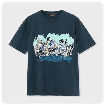ポールスミス Tシャツ ダブリンシティプリント ネイビー XL