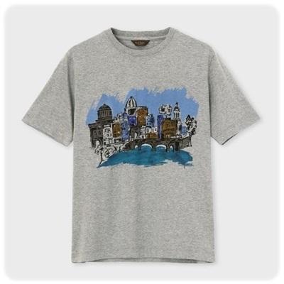 ポールスミス Tシャツ ダブリンシティプリント グレー XL