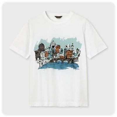 ポールスミス Tシャツ ダブリンシティプリント ホワイト L