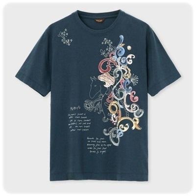 ポールスミス Tシャツ トレジャーホースプリント ネイビー M