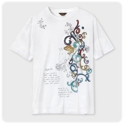 ポールスミス Tシャツ トレジャーホースプリント ホワイト L