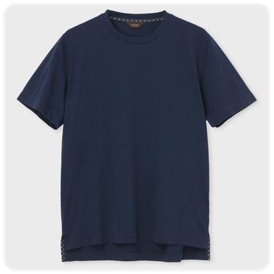 ポールスミス Tシャツ ドットパターンテープ ネイビー M