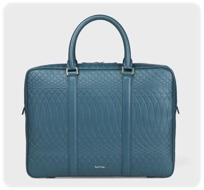 ポールスミス ビジネスバッグ No.9マルチカラーインテリア ブルー