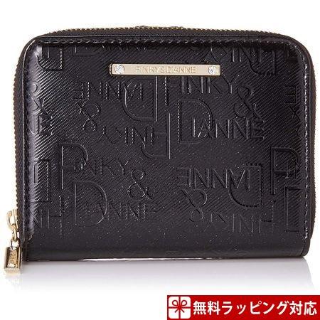 ピンキー&ダイアン 財布 折財布 ソリッド L字ファスナー ブラック ピンクy&Dianne