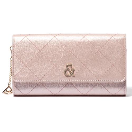 ピンキー&ダイアン 財布 長財布 かぶせ キャビア ピンク Pinky&Dianne