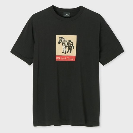 ポールスミス Tシャツ メンズ ゼブラロゴ プリント ブラック XL Paul Smith